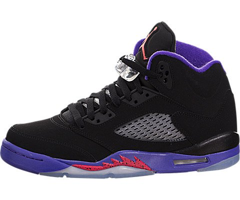 Jordan Air 5 Retro GG Big Kid's Shoes Black/Ember Glow/Fierce Purple 440892-017 (4 M US)
