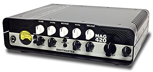 Ashdown RMMAG420 420w Rootmaster Head, Sub Harmonics, Compression and Overdrive, DI, FX Loop