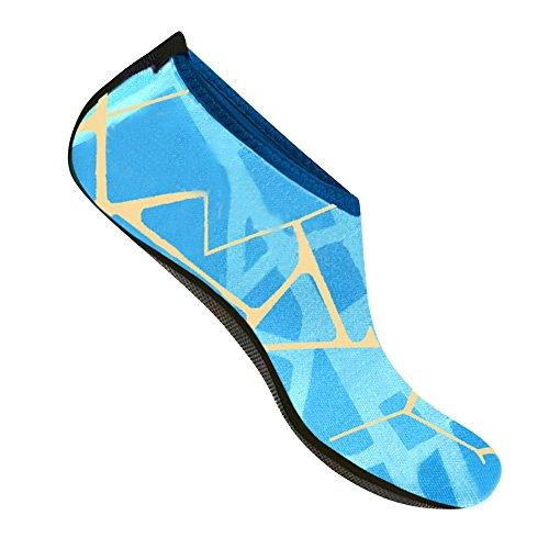 Peau Merssavo Surf Bleu Aqua Plage Barefoot Yoga De La L Natation Exercice Chaussures Unisexe Clair Pour AArEqaO