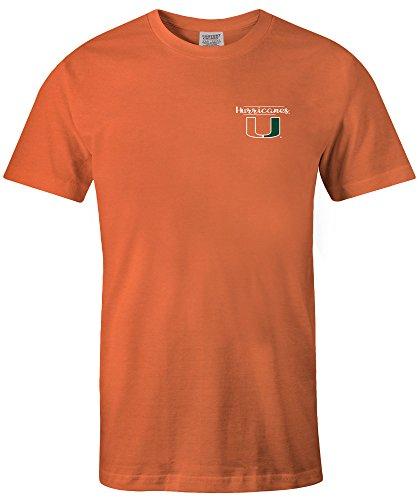 NCAA Miami Hurricanes Adult Unisex NCAA Sketchbook Comfort Color Short sleeve T-Shirt, X-Large,BurntOrange
