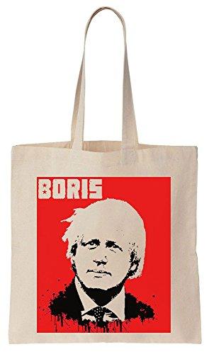 Boris Johnson BORIS Russian Soviet Poster Sacchetto di cotone tela di canapa