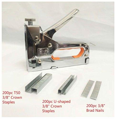 Powerful 3 Way Tacker Staple Gun Stapler Kit w/600 Staples & Brad Nails by Unbranded*