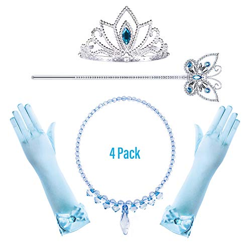 Princess Cinderella Costume Accessories Set for Toddler Girls Dress Up Birthday Party -