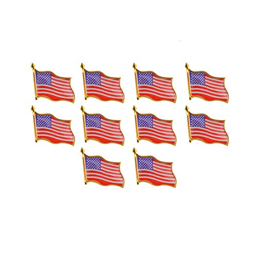 Rantanto American Flag Lapel Pin Jewlery United States Waving Flag Pins (50 Pack)