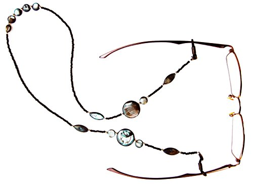 Silk Rose Women's Eyeglasses Fashion Chain and Badge Holder for IDs and Cards by Silk Rose