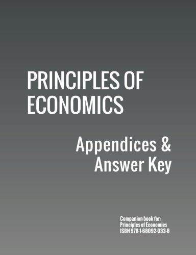Principles of Economics: Appendices & Answer Key