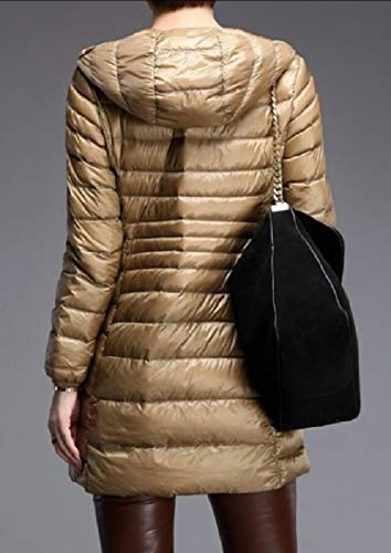 Long Outwear Down Jacket Champagne Packable Coat Lightweight Hooded Winter Women's security nxpO7q