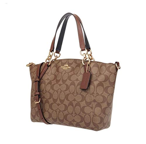 Coach Women's Small Kelsey Satchel No Size (Im/Khaki/Saddle 2)