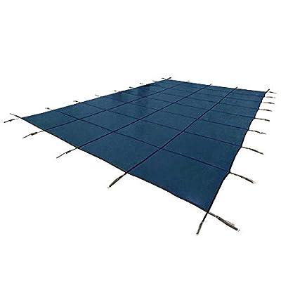 Yard Guard Deck Lock Rectangle Mesh 18'x36' Inground Swimming Pool Safety Cover (Blue)