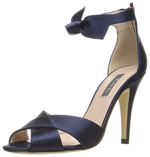 SJP by Sarah Jessica Parker Women's Buckingham Dress Sandal, Twilight Satin, 38.5 EU/8 B US by SJP by Sarah Jessica Parker