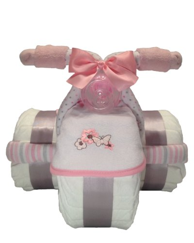 Baby Girl Tricycle Diaper Cake...
