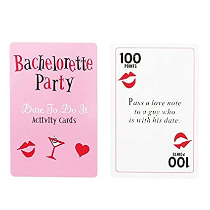 Hen Party Girls Night Out Game Cards Bachelorette Party Drinking Dare Cards RR Party Games & Activities Home, Furniture & DIY