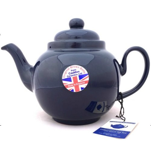 8 Cup Brown Betty Teapot in Cobalt Blue