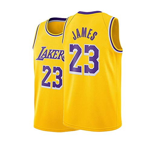 d81dfb5d342a Fyhjfn Youth Los Angeles James Jersey Boys 23 Basketball Lebron Kids Sizes  Yellow Gold (Yellow