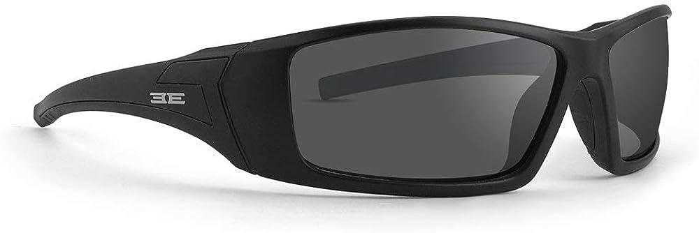 Epoch Eyewear 3 fotocromáticas motocicleta gafas de sol negro marcos clear para lentes de humo