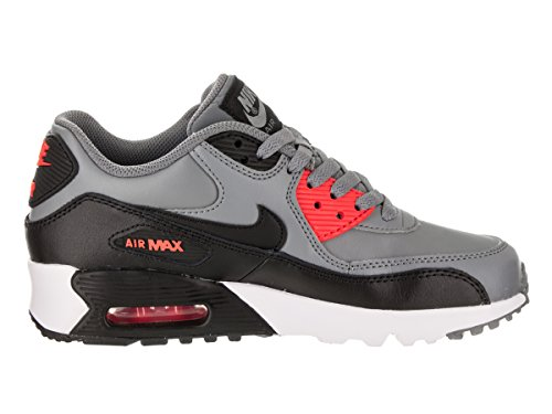 Nike Big Kids Air Max 90 Leder Laufschuhe Cool / Grau / Schwarz / Max / Orange