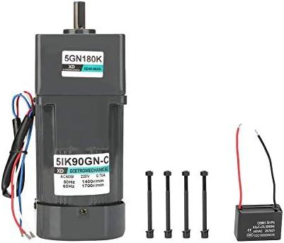 ZJN-JN 減速機モーター、AC 220V 90W電気CW /機械自動包装食品機械用コンデンサとCCWモーターギア削減モーター(180K) 工業用モータ