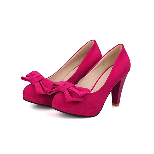 red Chaussures Femme sur massif tirer balamasa Pompes talons a0Yppwq