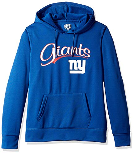 OTS NFL New York Giants Women's Poly Fleece Hoodie Pullover, Scripty, Large