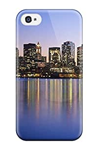Excellent Iphone 4/4s Case Tpu Cover Back Skin Protector Boston City