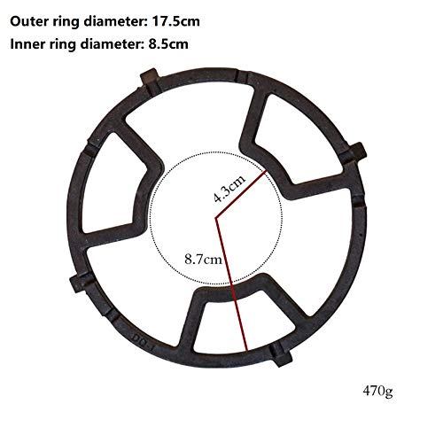 Universal Non Slip Black Cast Iron Wok Support Ring Stove Trivets for Kitchen and Camping, Stove Rack, Milk Pot Moka Pot Holder for Gas Hob accessories
