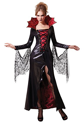 Bristol Novelty AC651 Midnight Vampiress Costume, Red, UK Size 10-14]()