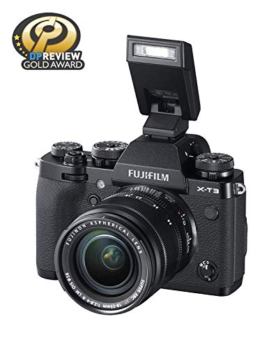 """Fujifilm X-T3 26.1 MP Mirrorless Camera with XF 18-55 mm Lens (APS-C X-Trans CMOS 4 Sensor, X-Processor 4, EVF, 3"""" Tilt Touchscreen, Fast & Accurate AF, Face/Eye AF, 4K/60P Video) - Black 4"""