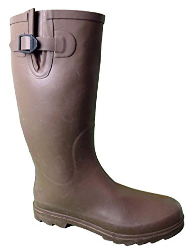 LADIES FUNKY WELLIES BOOTS WOMENS SIZE 3 4 5 6 6.5 7 8 9 RAIN MUD SNOW FESTIVALS *UK SELLER* B19 PLAIN BROWN