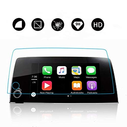 2017 2018 2019 CR-V CRV Lx Ex Ex-l Touring 7-Inch [Heat-Resistant] Car in-Dash Center Navigation Screen Display Trapezoid Tempered Glass ()