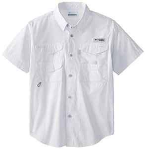 Columbia Boy's Bonehead Short Sleeve Shirt (Youth), White, XX-Small