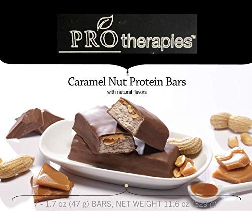 ProTherapies Protein Bar 15g - Low Carb High-Protein Weight Loss Snack Bar for Healthy Diets, Caramel Crunch, 7 Count