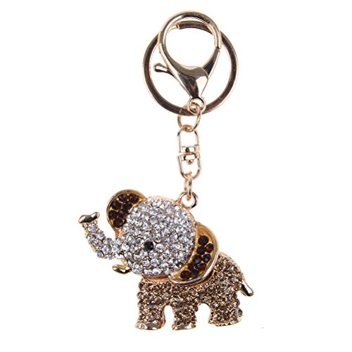 7thLake Crystal Rhinestone Charms Pendant Key Chains Cute Purse Bag Gifts(Elephant) from 7thLake