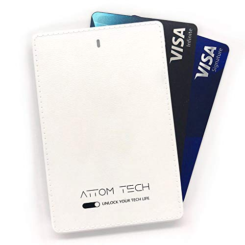 Attom Tech 2500mAh Power Bank Mini,Back-up Phone Battery Pack Ultra Slim,Pocket Size Thin External Phone Battery Pack Emergency Phone Power Built-in Charging Cable for Android Micro USB and Apple(WHT) by Attom Tech