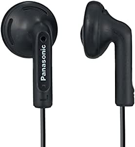 Panasonic Earbuds RP-HV096-K (Black) with Comfortable, Clear, and Powerful Sound Stereo In-Ear Headphone