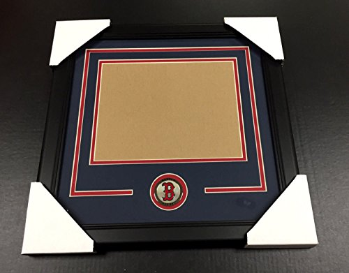 BOSTON RED SOX Medallion Frame Kit 8x10 Photo Double Mat HORIZONTAL