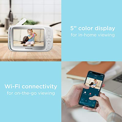 41RPpDyRkyL - Motorola Connect40 Wireless Security Camera - Family Video Intercom Communication System - Infant, Elderly, Pet Monitor - App, WiFi, Voice Assistant-Enabled With Digital Pan, Zoom, Tilt, Night Vision