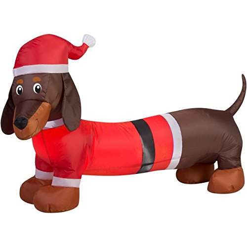 Weiner Dog Inflateable Holiday Air Blown Outdoor Christmas Decor (I-02)