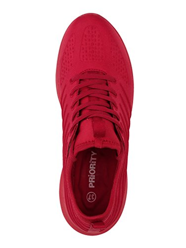 Sneaker Satin Rot by Priority Damen Optik in OUnq5txawp