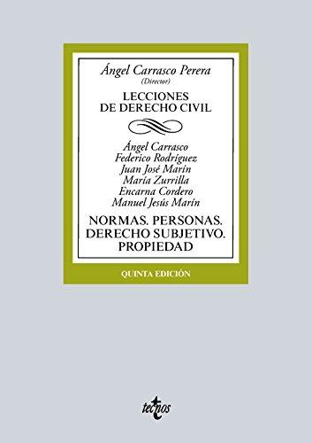 Descargar Libro Derecho Civil. Introducción. Fuentes. Derecho De La Persona. Derecho Subjetivo. Derecho De Propiedad Ángel Carrasco Perera