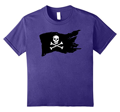 Kids Fun Halloween Pirate Flag Costume T-Shirt 12 (Make It Yourself Pirate Costume)