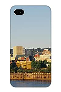 Buildings On The Waterfront Portland Case Compatible With Iphone 4/4s/ Hot Protection Case(best Gift Choice For Lovers)