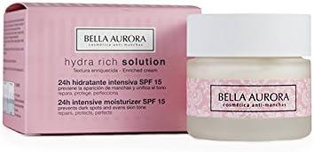 BELLA AURORA Hydra rich crema hidratante intensiva spf 15 tarro 50 ml: Amazon.es: Belleza
