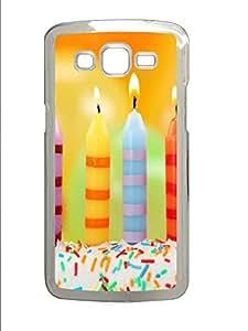 Samsung 2 7106 Case Candle Happy Birthday PC Custom Samsung 2 7106 Case Cover Transparent
