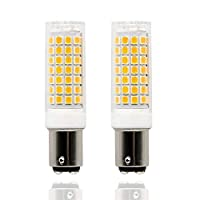 Ba15d led Light Bulb Dimmable 8W, 75W 80W 100W Halogen Bulbs Replacement, Double Contact Bayonet Base 110V 120V 130V Input, Warm White 3000K (Pack of 2) (Warm White)