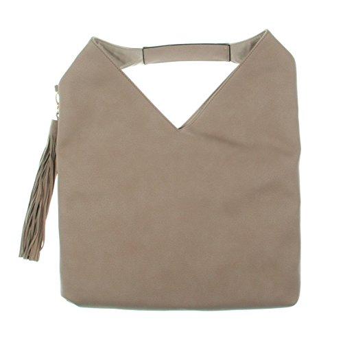 Steve Madden Womens Bcomfyy Faux Leather Studded Hobo Handbag Pink Large by Steve Madden