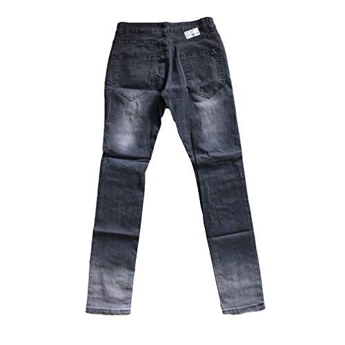Destroyed Skinny Jeans Tamaño Jeans Jeans Freizeit Hosen Sommer Yying Hosen Herren Gris Size Und Reißverschluss Slim Fit Herbst Plus Mit Denim 3XL Hosen S Y4CwqCP