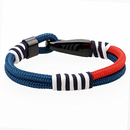 MEITS Nautical Rope Bracelet With Stainless Steel Anchor and Colorful Rope-Anchor Bracelet-Unisex Bracelet-Sailor Bracelet - Great Jewelry Gift Idea for Men & Women (20.0) Photo #3