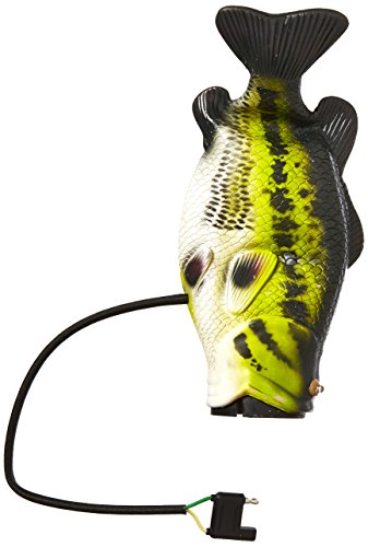 Hitch Critters 3492 Flopping Bass Moving Ball Hitch Cover and Brake Light -