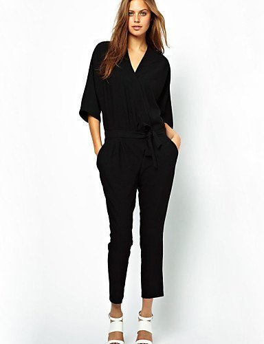 GSP-Damen Jumpsuits - Retro / Sexy Langarm Polyester Mikro-elastisch