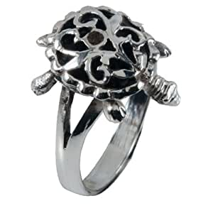Movable Turtle - Silver Ring